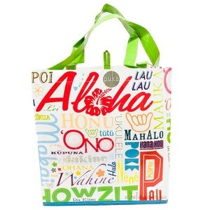 Handbags - New~ Hawaii Aloha Reusable Tote Bag